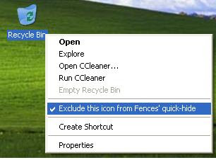 excluding recycle bin from fences quick-hide