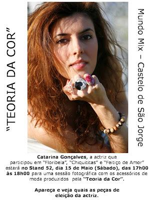 """A actriz Catarina Gonçalves aliou-se à """"Teoria da Cor"""""""