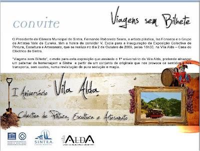 """""""Viagens sem Bilhete"""", até 01 de Novembro, 2009"""