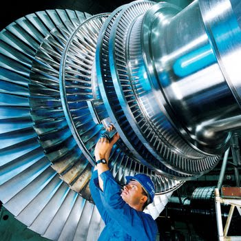 Steam Turbine Use In A Power Plant Power Plants