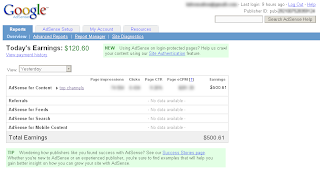 adsense fake screenshot