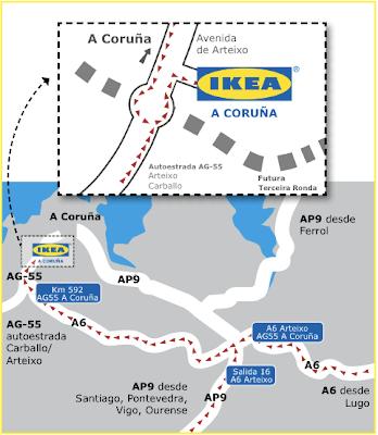 MAPA IKEA A CORUÑA