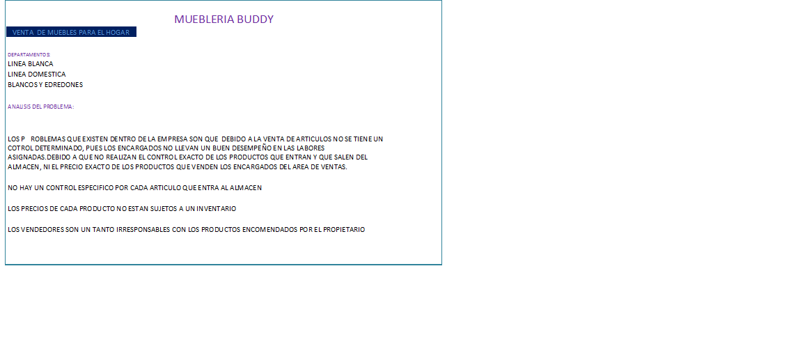 Muebleria buddy for Software muebleria