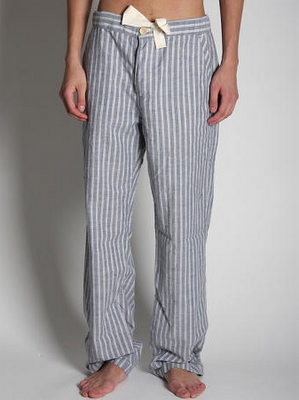 striped casual trousers