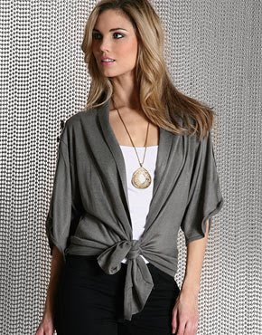 gray draped fashion