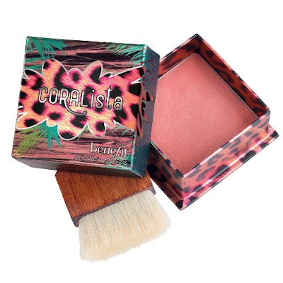coral blusher make up cosmetics