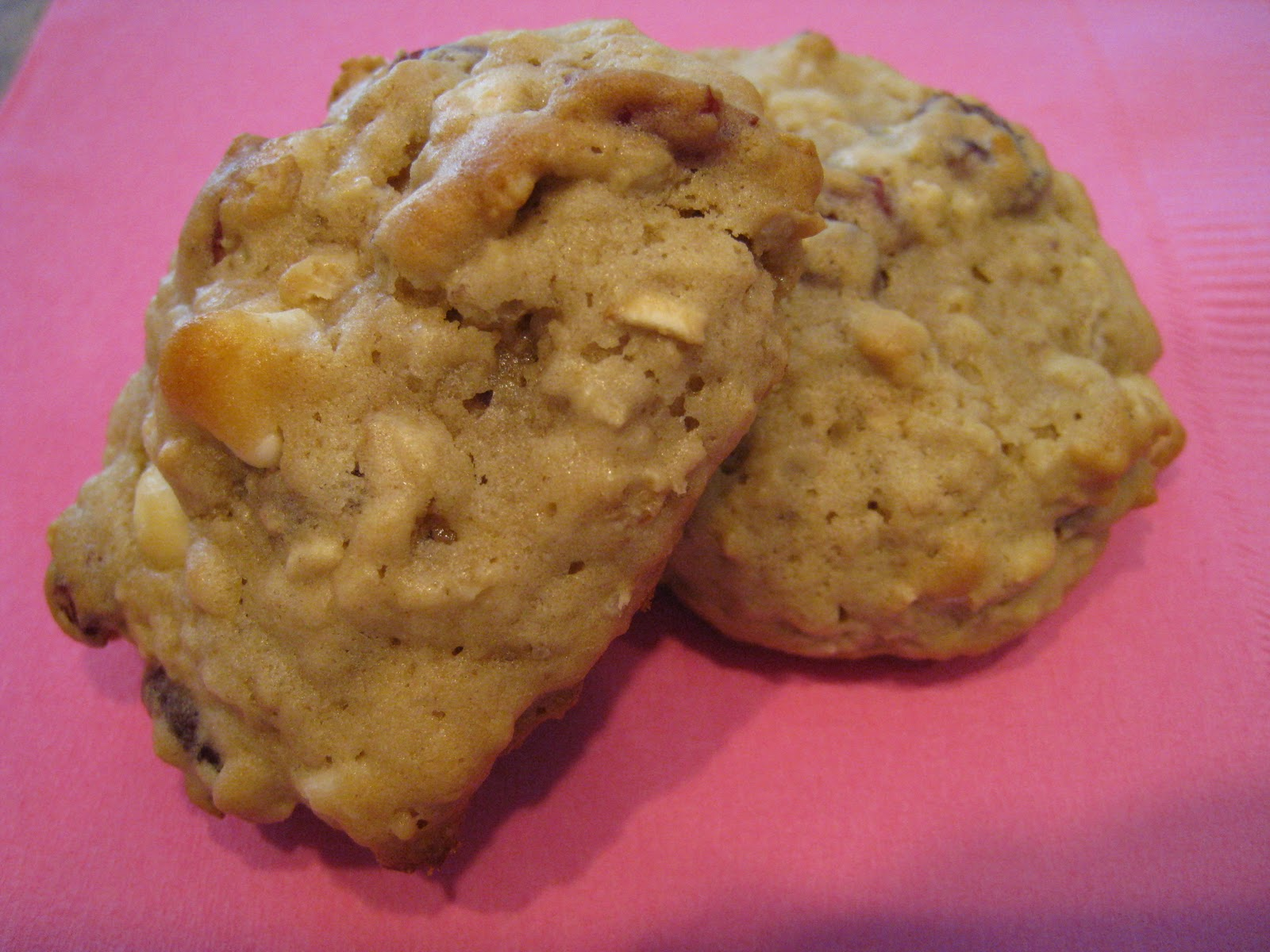 It's Fun 4 Me!: Oatmeal Cranberry White Chocolate Chunk Cookies