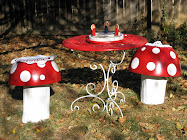 Upcycled Salad Bowl Stools