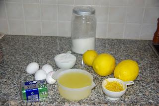 מצרכים lemon curd