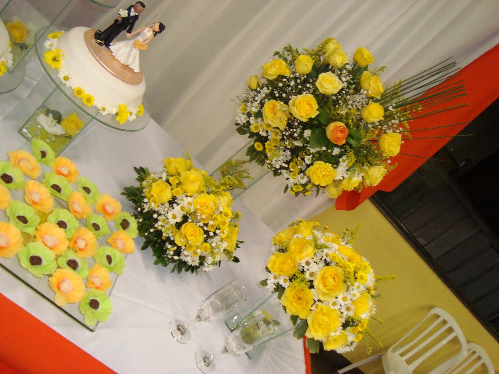Decoração de Casamento com Cerimônia amarelo