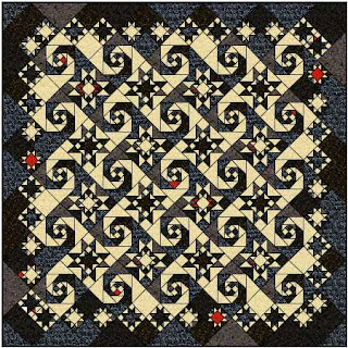 Cathedral Windows Rag Quilt Pattern - Free Quilting