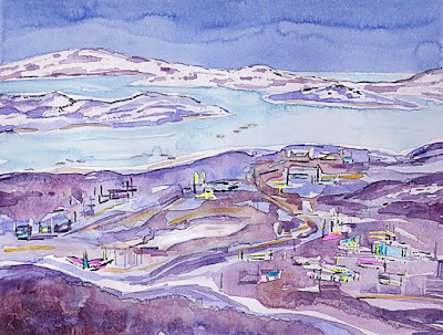 charlene brown, arctic, painting cape dorset
