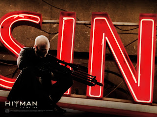 Hitman Agent 47 with Sniper Rifle HD Wallpaper