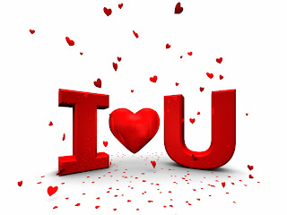 i and u 3D Text and Red Hearts HD Love Wallpaper