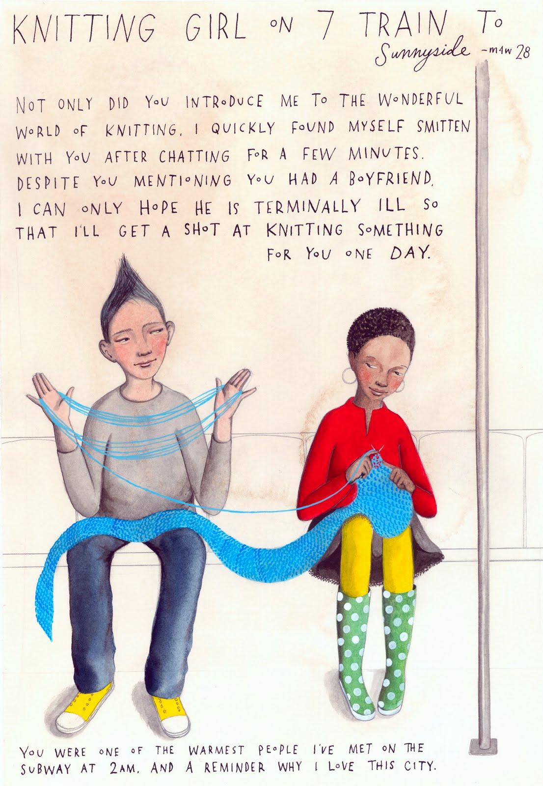 Knitting Funny Facts : Le rainy day