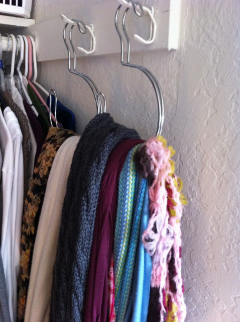 all squared away scarf organizer