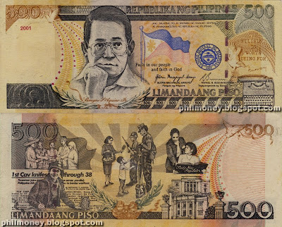philippine money peso coins and banknotes detect fake 500 peso bills