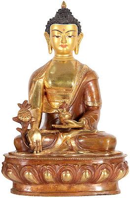 Figura buda estatuilla bronce oro