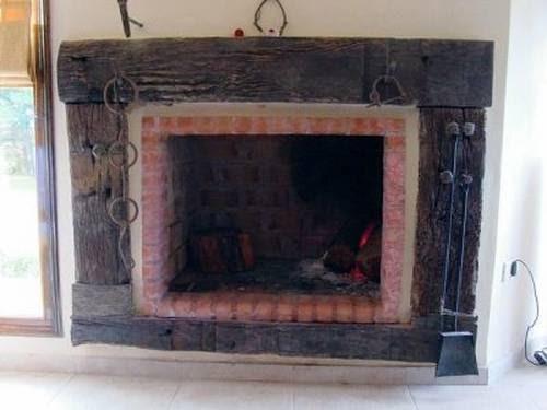 Arquitectura de casas hogar con durmientes for Hogares para chimeneas