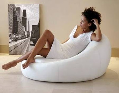 Sofá Bzoo Chair Lounger color blanco