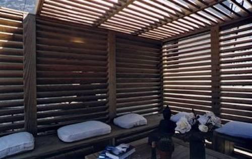 Arquitectura de casas decoraci n de una terraza for Cobertizo para exteriores