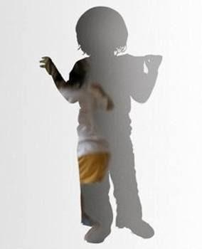 Espejo silueta de niño