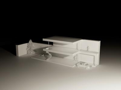 Maqueta de arquitectura de la casa Minimalista