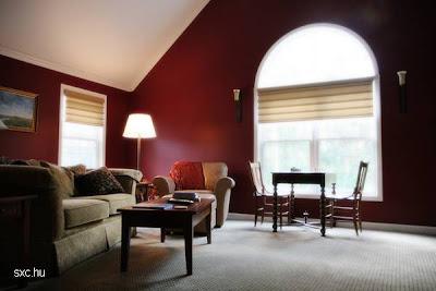 Living en rojo, sala de estar clásica