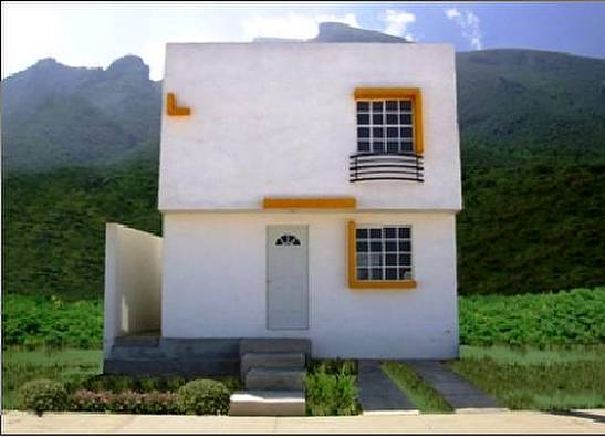 Foto de una casa pequeña moderna de dos plantas