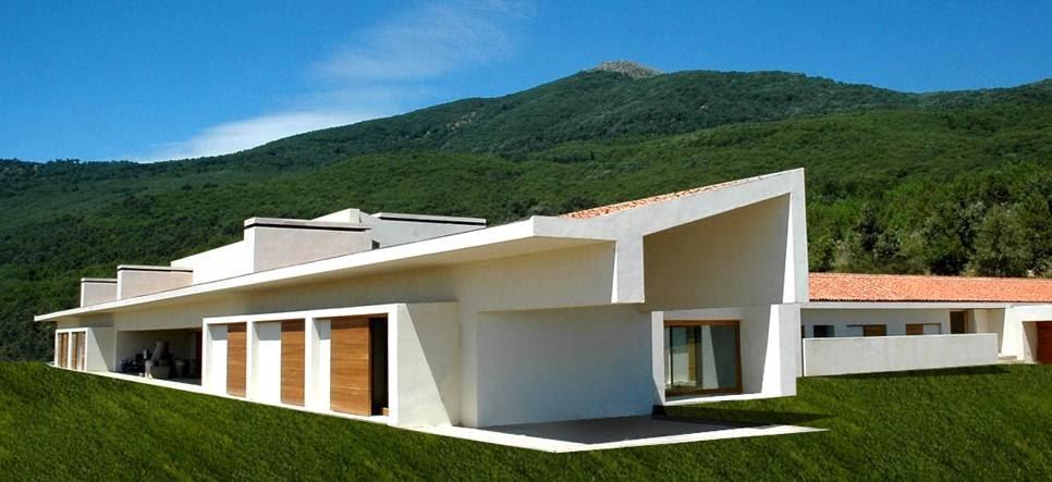 Arquitectura de casas casa contempor nea de techo inclinado for La casa tiene un techo