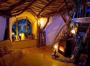 Casa de madera y tierra