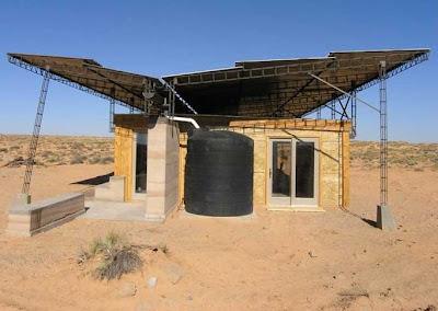 Casa bioclimática en el desierto