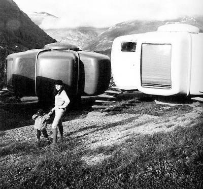 Casas Bulle en Francia arquitectura moderna de fines de los años 70