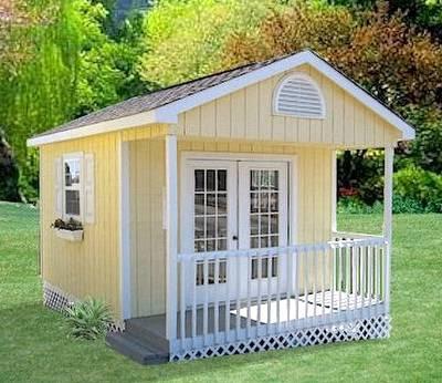 Arquitectura de casas una casita para el jard n en - Casitas pequenas de madera ...