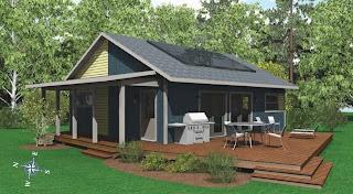 Modelo de casa que produce su energía