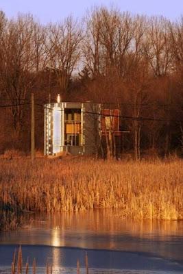 Arquitectura actual del Canadá cabaña contemporánea de original diseño