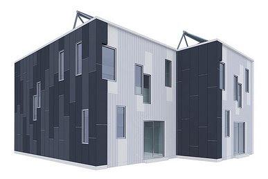 Proyecto de casas urbanas de bajo costo en Estados Unidos