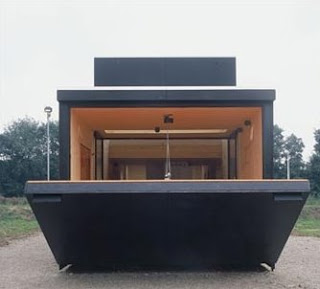 Casa caja de madera
