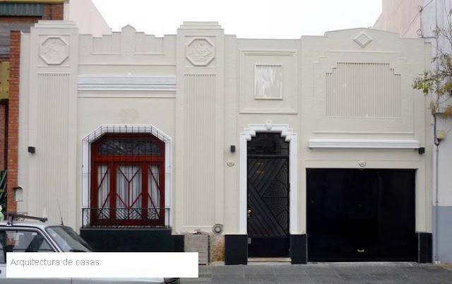 Fachada estilo Art Deco casa de barrio