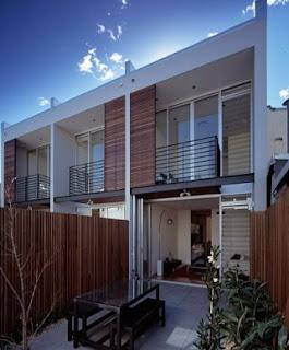 Arquitectura australiana residencial casas triplex en Sydney