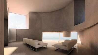Residencia contemporánea con forma elíptica