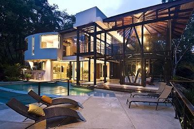 Casa de arquitectura Tropical en Costa Rica