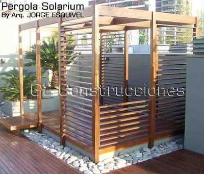 Pérgola solarium
