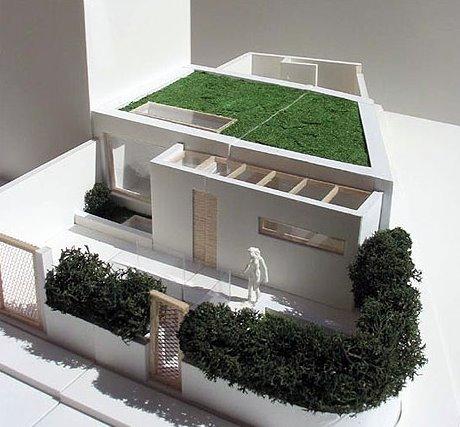 Arquitectura de casas moderna casa urbana de dise o for Casa minimalista maqueta