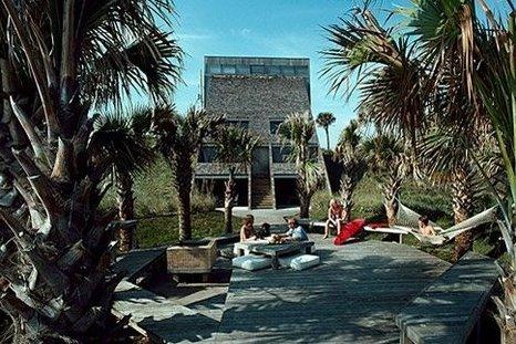 Perspectiva de la casa de playa