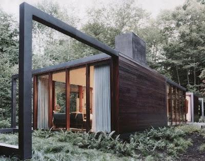 Perspectiva de un modelo de casa Contemporánea