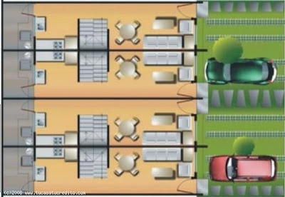 Distribución de los espacios en las casas