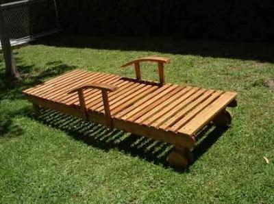 Reposera de madera horizontal