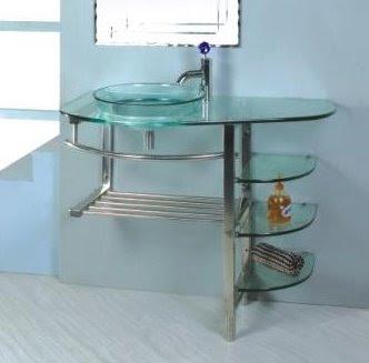 Vanitory vidrio y metal