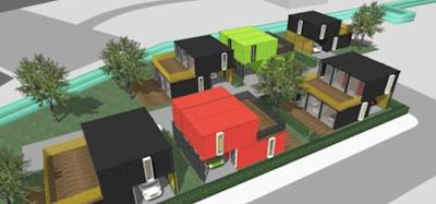 Barrio de casas contenedores